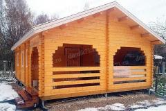 """Дачный дом из мини-бруса """"Звездочка"""" с верандой"""
