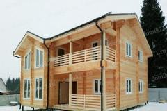Жилой деревянный дом 4 спальни, веранда, балкон