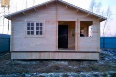 """Дачный дом из бруса """"ИЗБА КРАСНА"""" 6 х 5,5 м."""