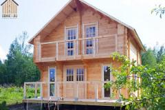 Двухэтажный дачный дом с мансардой 6х6 м.