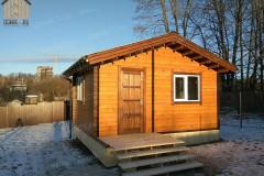 Дачный дом из мини-бруса 5 х 4 м