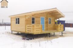 Деревянный дачный дом 6 х 6