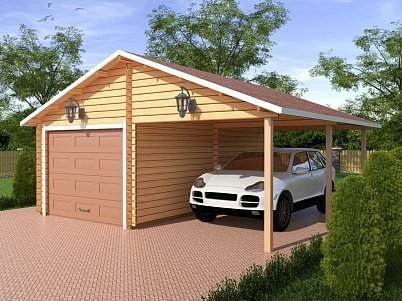 Деревянные гаражи и навесы из бруса