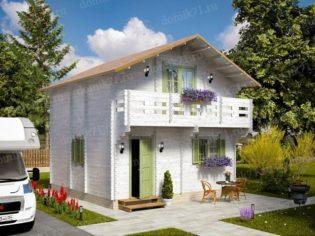 Двухэтажный дачный дом